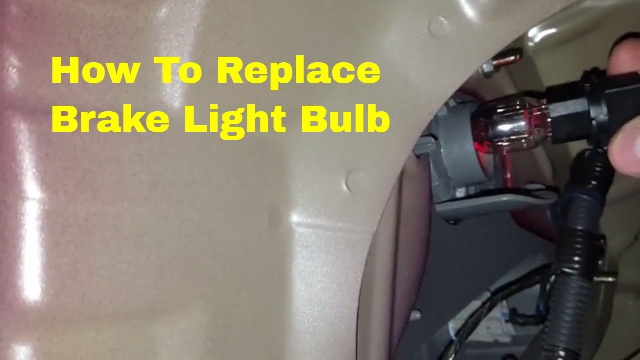 Honda Accord Brake Light Bulb Replacement Youtube