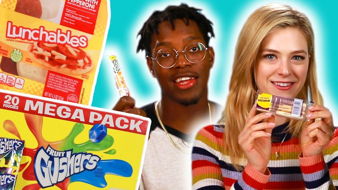 People Try Childhood Snacks