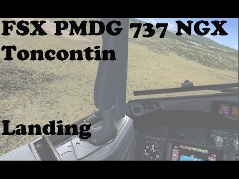 FSX - PMDG 737NGX Toncontin Landing Interesting Approach #2