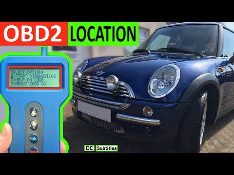 Mini OBD2 Diagnostic Port Location R50 R53 2000-2006 First