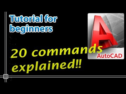 Autocad 2018 - Command Tutorial for beginners - PART 1