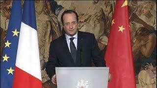 Chine: la timide déclaration de François Hollande sur les droits de l