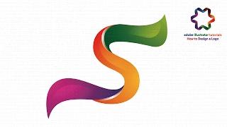Logo Design illustrator tutorial for beginners - Custom Letter Logo Design in 3d style - Logo S