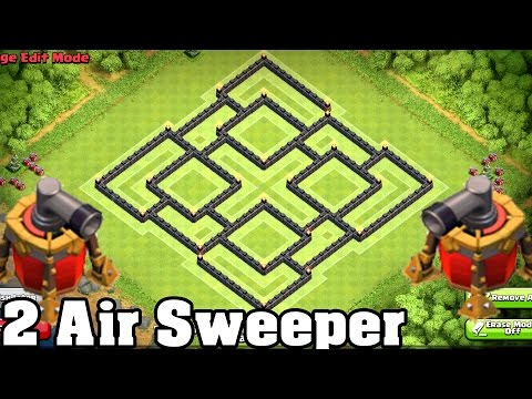 Clash of Clans - BEST Town hall 9 (TH9) Farming BASE Defense New COC Update 2 Air Sweeper