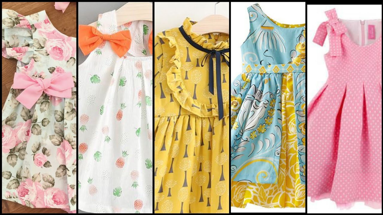 Super stylish and very useful brand new cotton summer frock design for1-6 Yearb babies