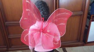 як зробити крила метелика для костюма