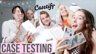 Gambar cover Testing Casetify Cases (ft. friends)   Phone Case Testing & Review
