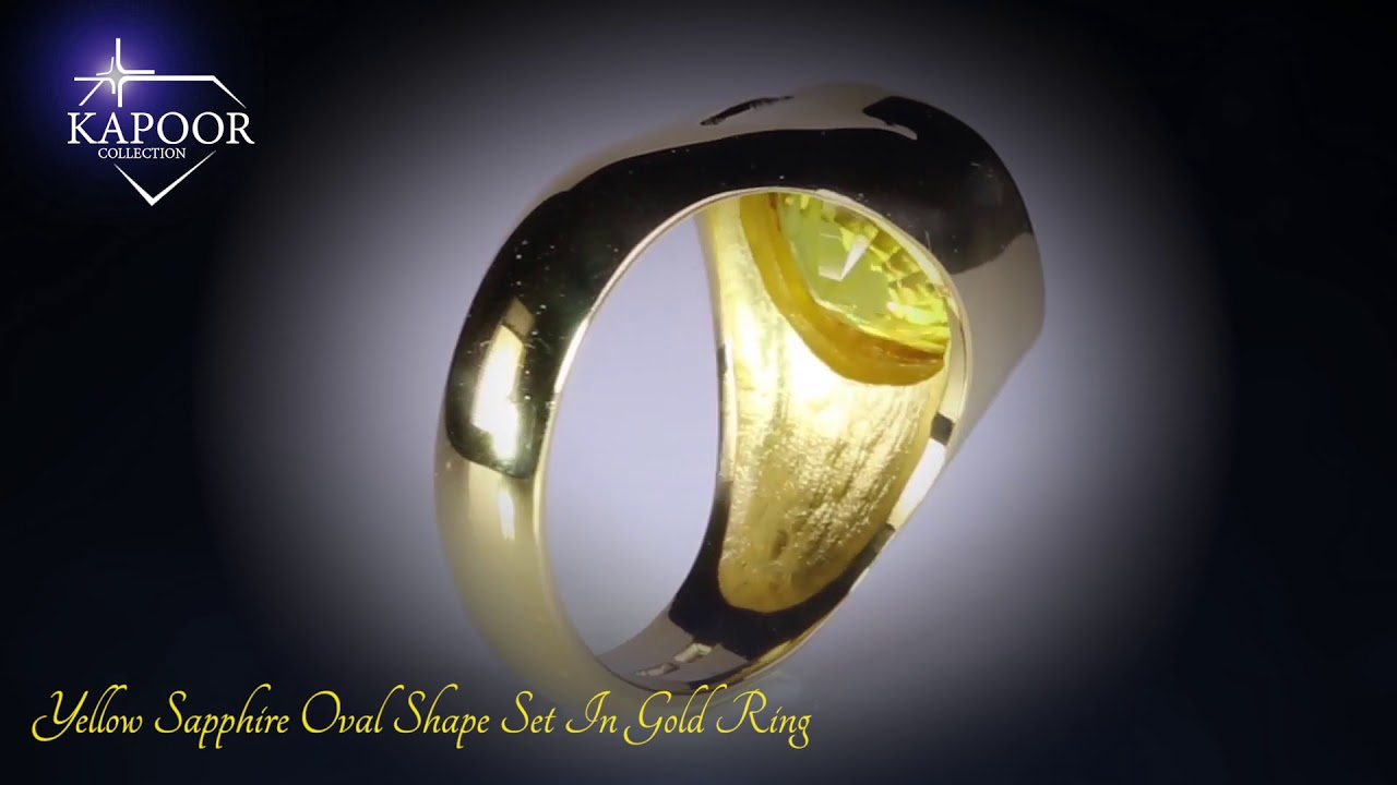 Yellow Sapphire Gold Ring | Certified Gemstone | Astrology ...