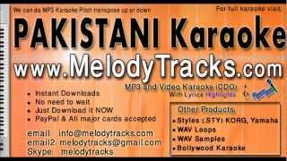 Chan mere makhna - Shazia manzoor KarAoke - www.MelodyTracks.com