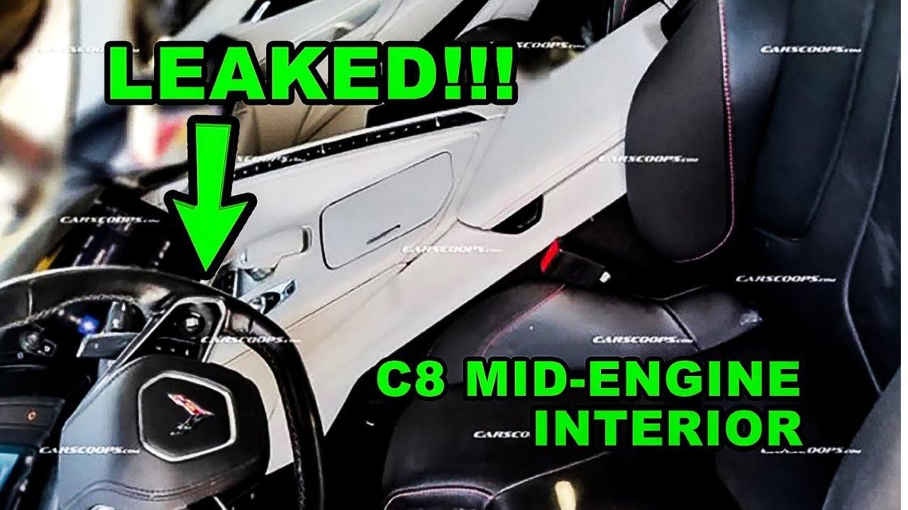 All New 2020 Chevrolet C8 Mid Engine Corvette Interior Leaked Youtube