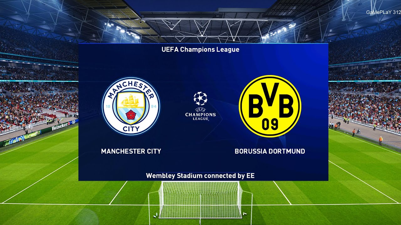 PES 2021 - Manchester City vs Borussia Dortmund - UEFA Champions League UCL  - Gameplay - YouTube