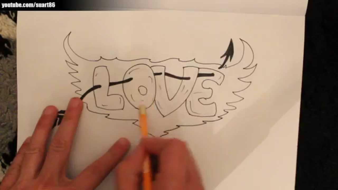 Como dibujar graffitis paso a paso  YouTube