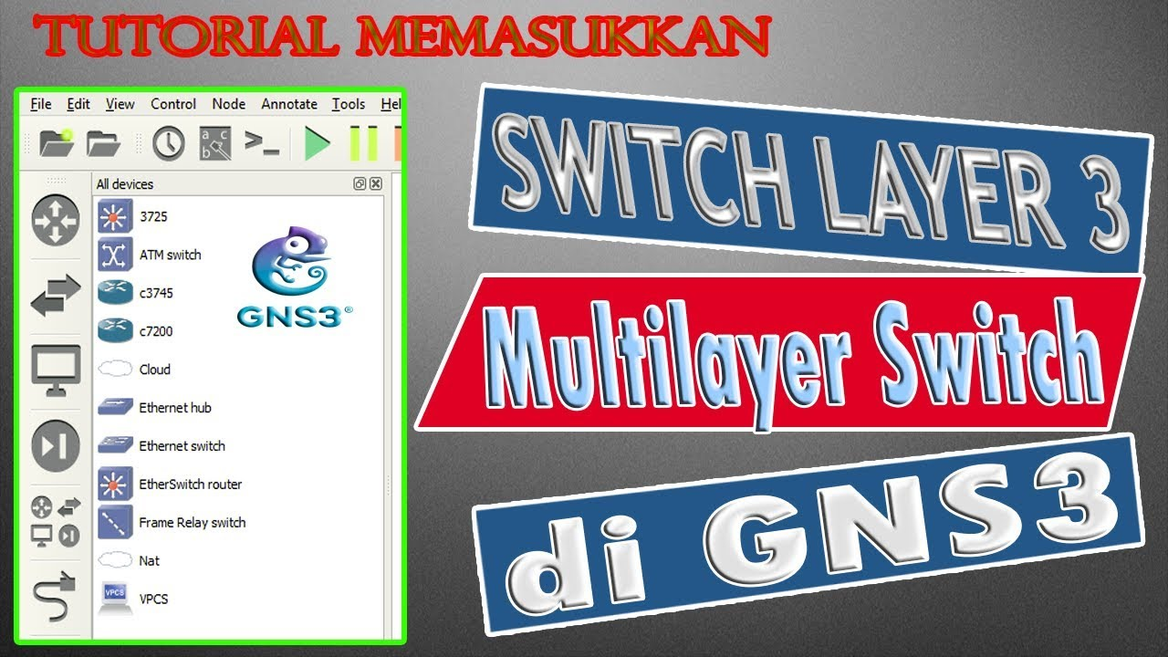 Tutorial How to enter a layer 3 / multilayer iOS switch to GNS3