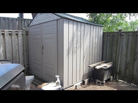 rubbermaid storage shed youtube