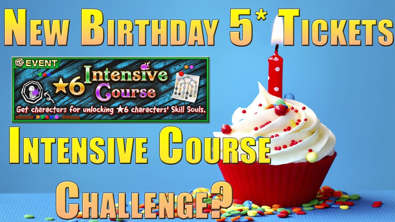 Happy Birthday To You New Intensive Course Challenge Idea