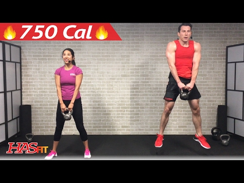 45 Min HIIT Kettlebell Workouts for Fat Loss & Strength – Kettlebell Workout Training Exercises