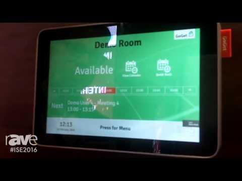 ISE 2016: GoGet Exhibits Room Sync Plus Meeting Room Display