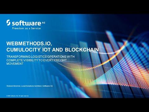 Smart logistics with webMethods.io, Cumulocity IoT and Blockchain