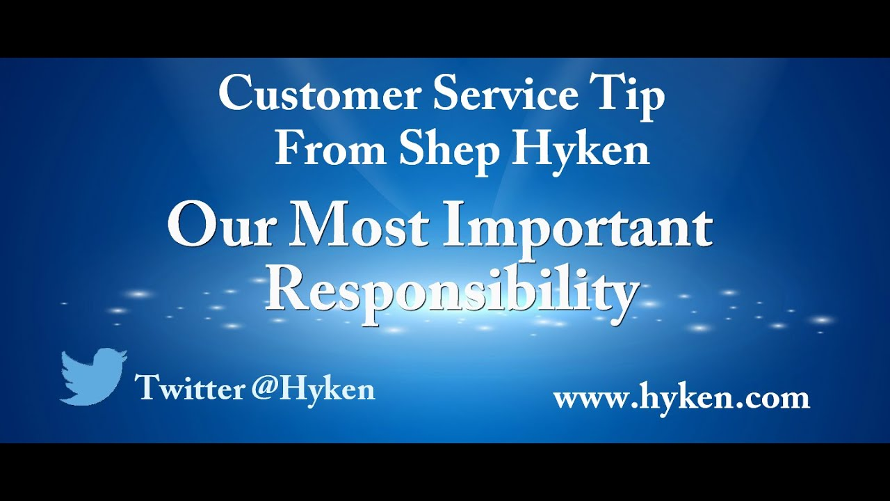 Customer Service Tip: An Important Responsibility - YouTube