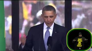 president obama s speech with the fake sign language interpreter at the mandela ceremony