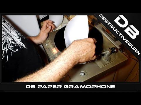 DB Paper Gramophone - Record Player