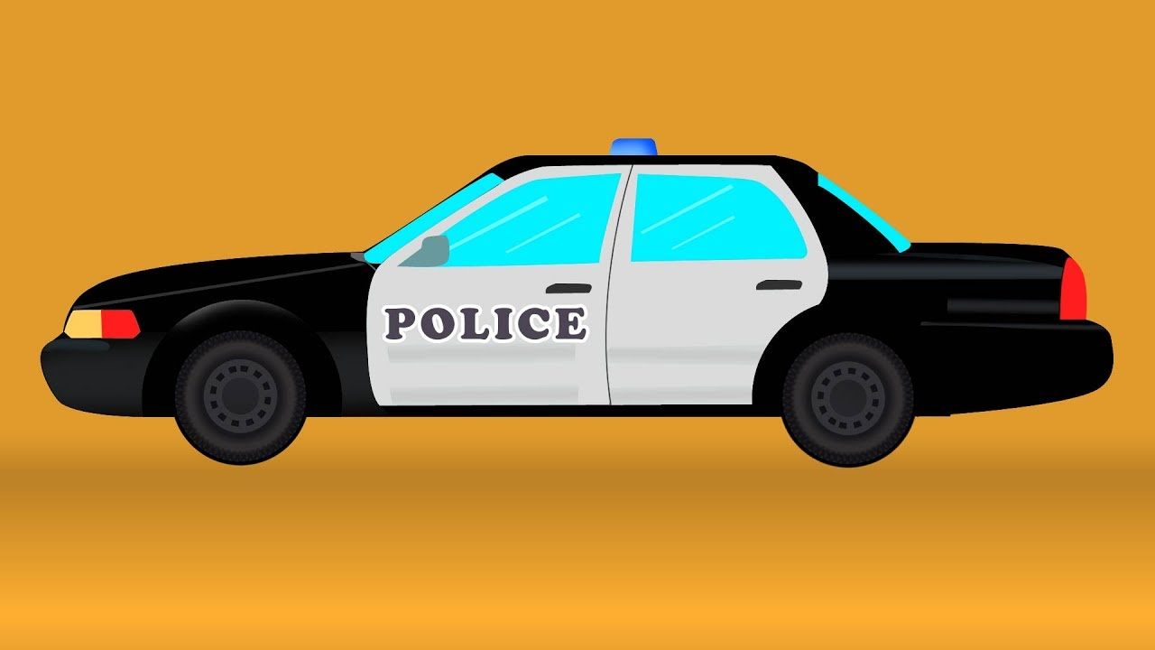 police car video for kids and toddlers