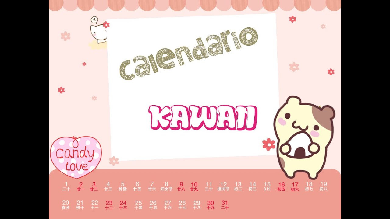 Calendario KAWAII -PattyKy - YouTube