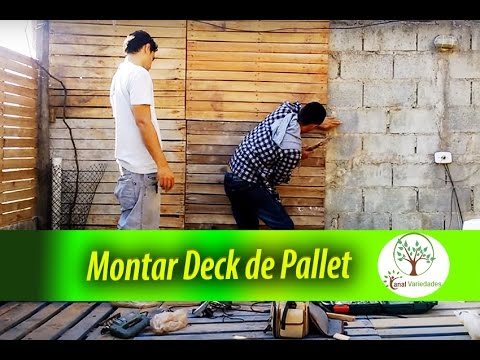 How to build a deck of cheap and economical pallet of a huge ...