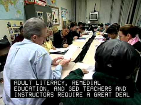 Adult Literacy, Remedial Education, and GED Teachers and ...