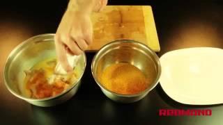 Мультиварка REDMOND RMC M110 рецепт куриные наггетсы   Multicooking REDMOND M110