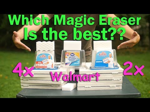 Mr Clean Magic Eraser Test.  Is the 2x, the 4x or Walmart Miracle Cleaning Better?