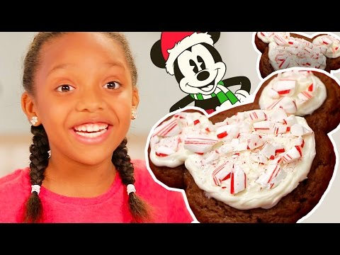 Mickey Mouse Peppermint Cookies | Dishes by Disney | Disney Family