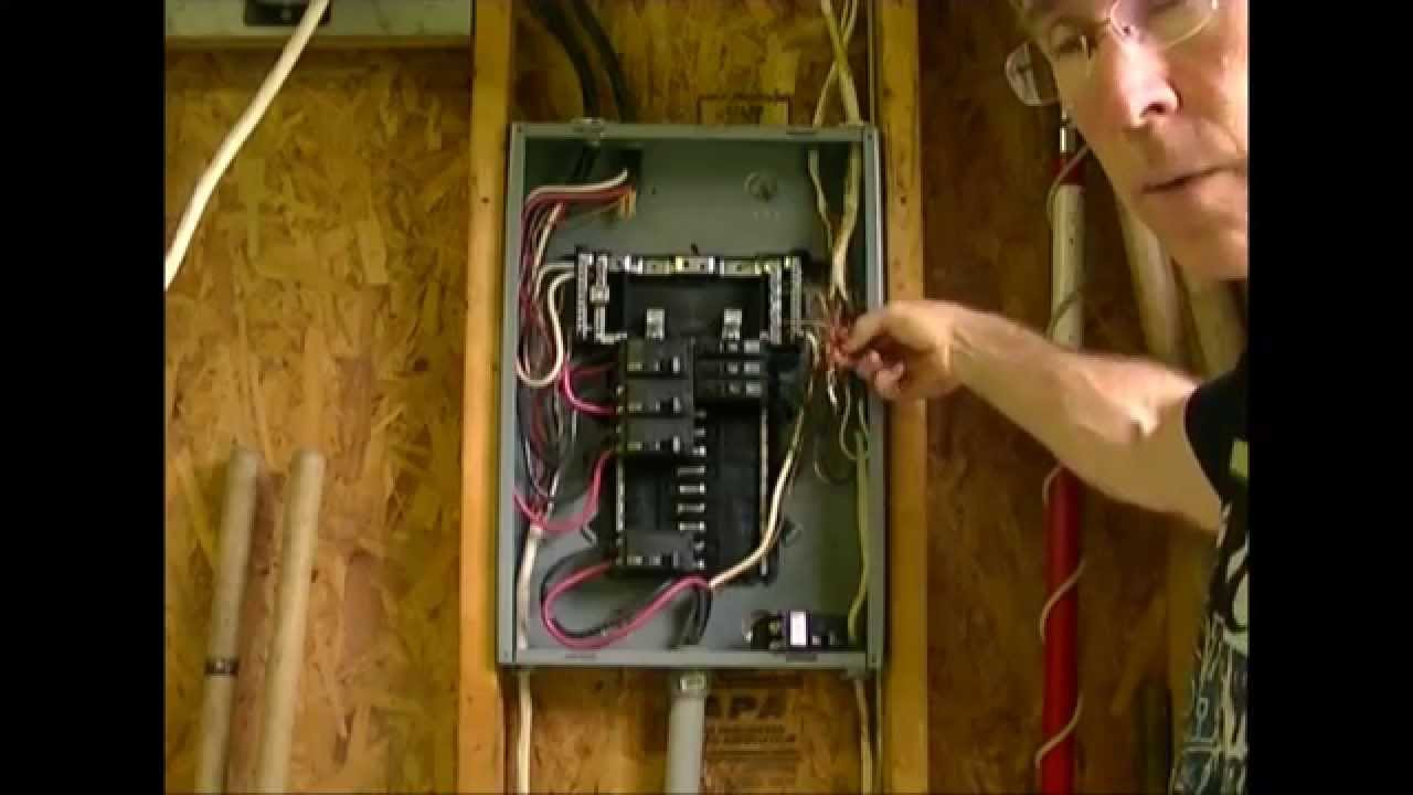 how to add a circuit to a load center breaker box youtube rh youtube com wiring circuit breaker box less white wires wiring a 2 circuit breaker box