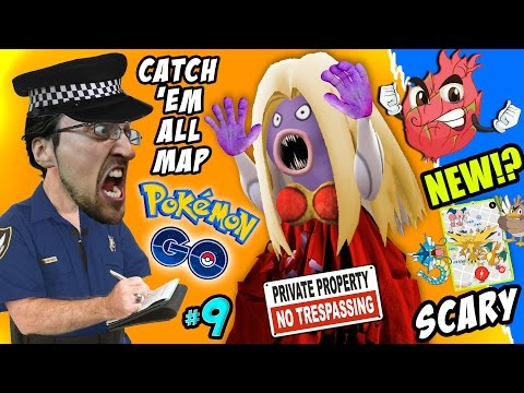 Thumbnail: Pokemon Go TRESPASSING!! How To Catch 'Em All Map + Scary Jynx Encounter w/ FGTEEV Fam New Creature?