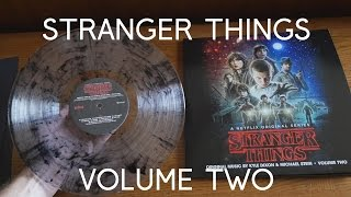 Volume Two STRANGER THINGS Vinyl Unboxing - Ultra Clear Black Salt and Pepper Colored Vinyl Edition