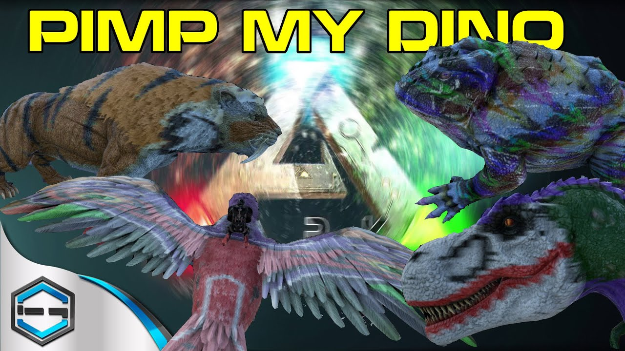 Ark Survival Evolved How To War Paint Pimp My Dino Youtube