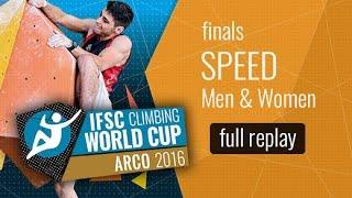 IFSC Climbing World Cup Arco 2016 - Speed - Finals - Men/Women