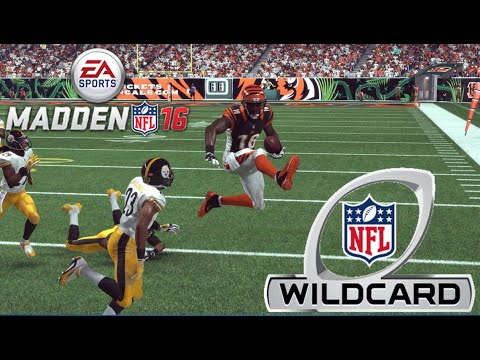 2015 NFL Playoff Simulation | AFC Wild Card 2 | (6) Pittsburgh Steelers at (3) Cincinnati Bengals