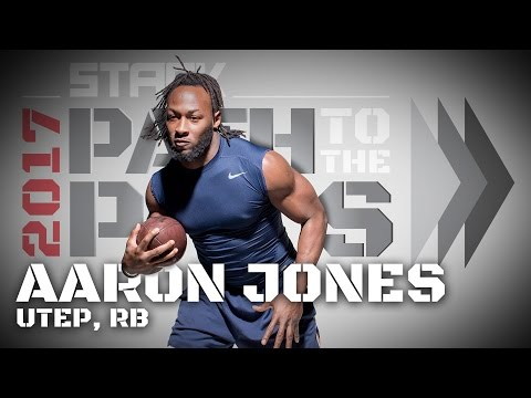 2017 Path to the Pros: Aaron Jones, UTEP Running Back - YouTube