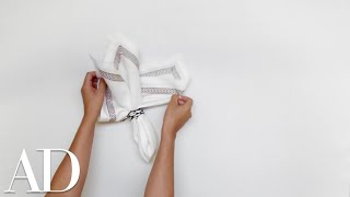 How to Fold a Napkin for a Dinner Party: The Classic Ring Stuffer   Architectural Digest