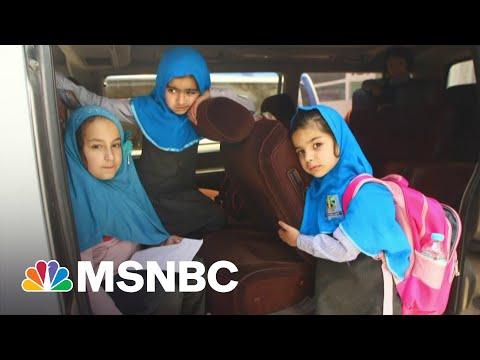Afghan Girls Return To School After Taliban Bombing Kills 60 | Andrea Mitchell | MSNBC