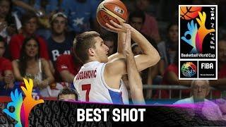 Trojka! Bogdan Bogdanovic's three beats the buzzer - 2014 FIBA Basketball World Cup