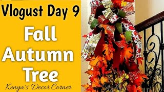 Fall Autumn Tree Decorate with Me   Vlogust/VEDA Day 9   Tuscan Inspired