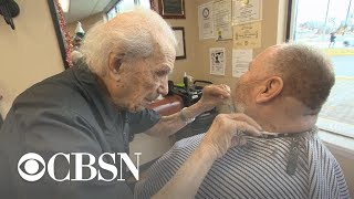 107-year-old Anthony Mancinelli is the oldest barber in the world