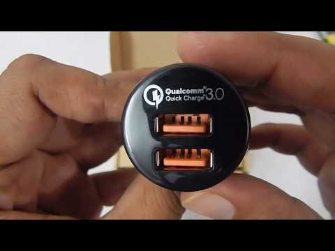 Aukey CCT8 Dual Port Qualcomm 3.0 Fast Charger For Car Unboxing U0026 Testing