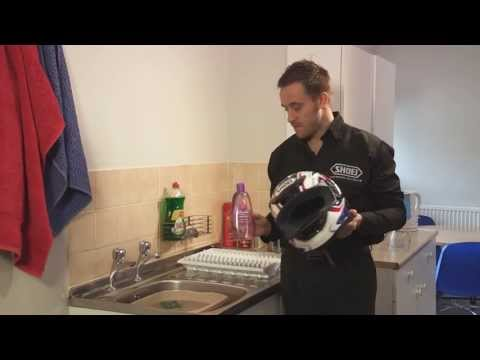 How to wash your SHOEI Helmet