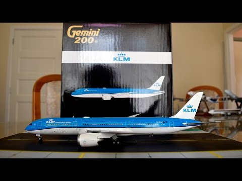 Gemini Jets 1:200 KLM 787-9 Dreamliner Unboxing and Review