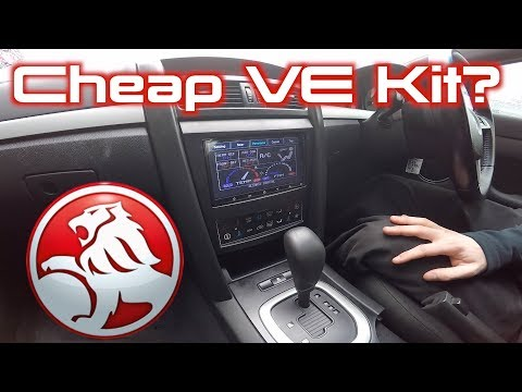 Holden VE Commodore 'Cheap' Stereo Replacement Kit - YouTube