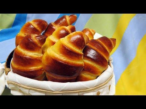 Croissants (brioche dough / milk bread)
