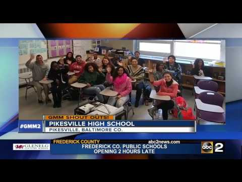 Pikesville High School students say Good Morning Maryland